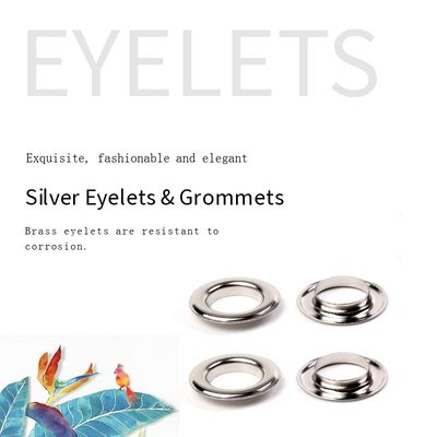 Silver Nickel Free Diameter 3mm Metal Eyelet Rings